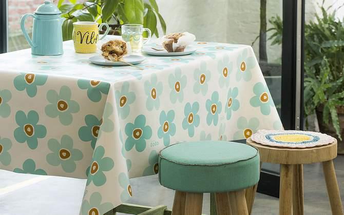 bloemen tafelzeil